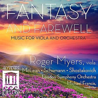 McLean/Schumann/Shostakovich - Fantasy and Farewell: Music for Viola and Orchestra [CD] USA import