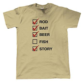 Vectorbomb, Rod Bait Beer, Mens Funny Fishing T Shirt (S to 5XL)