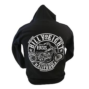 Billy Eight - KUSTOM SHOP KALIFORNIA - Mens Hoodie - Black