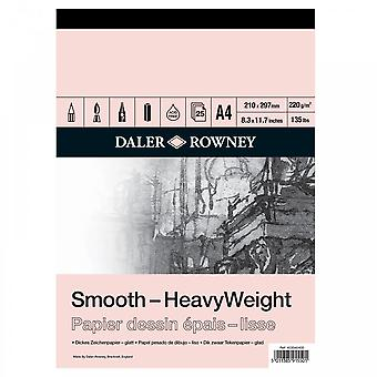 Daler Rowney HeavyWeight Cartridge Gummed Pad A4