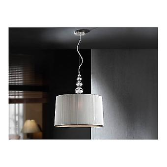 Schuller Mercury Clear Drum Shade Ceiling Pendant