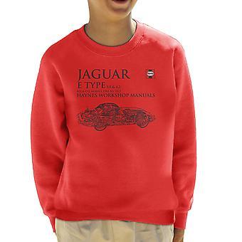 Haynes Workshop manuell 0140 Jaguar E Type 6 Cyl svart barneklubb Sweatshirt
