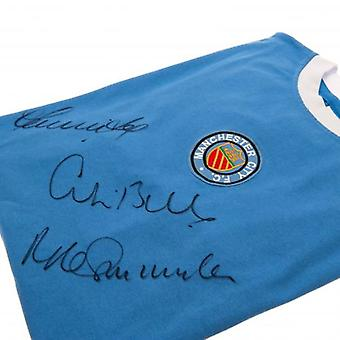 Manchester City Bell / Lee / Summerbee Signed Shirt