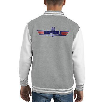 Top Gun Logo Grayskull maestros de Varsity Jacket infantil el universo