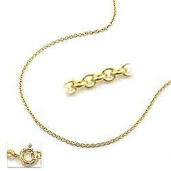 Golden anchor chain, 38 cm, thin chain, 9 KT GOLD 375 necklace gold