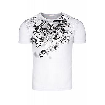 RUSTY NEAL shape shirt men's White T-Shirt with front print