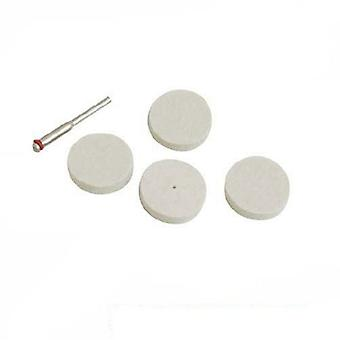 Silverline Felt polishing discs rotary tool, 5 pcs Ø22 mm