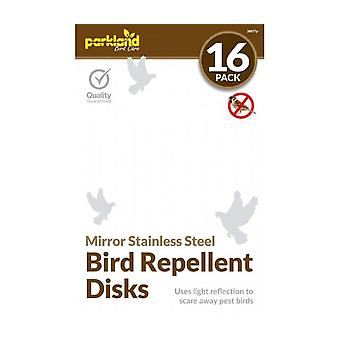 16 X Mirror Stainless Steel Bird Repellent Disks