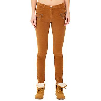 Slim Skinny Stretch Cords Corduroy Trousers Jeans - Brown