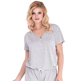 Mio Lounge Pinstripe Grey Jersey Sleepwear T-shirt ML16J1PJT