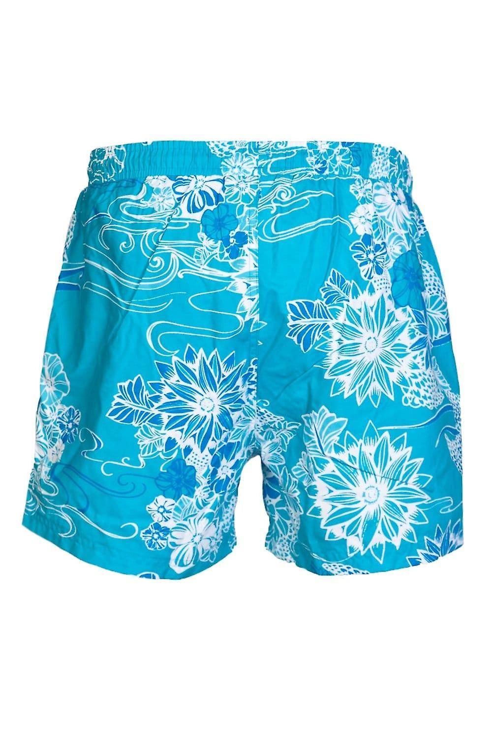 BOSS HUGO BOSS BLACK Flower Printed Swimming Shorts In Red And Blue PIRANAH 50260996