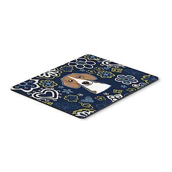 Carolines Schätze BB5090MP blaue Blumen Beagle Maus-Pad, Hot-Pad oder Untersetzer