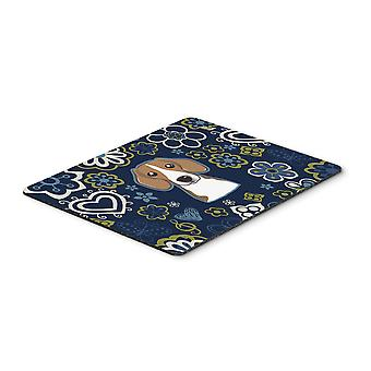Carolines Treasures  BB5090MP Blue Flowers Beagle Mouse Pad, Hot Pad or Trivet