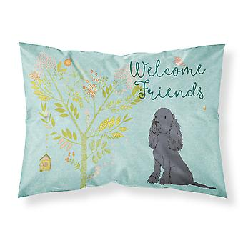 Welcome Friends Black Cocker Spaniel Fabric Standard Pillowcase