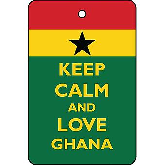 Keep Calm And Love Ghana Car Air Freshener