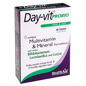 Health Aid Day-vit PROBIO (MVM with Probiotics & CoQ10) - Blister Pack ,  30 Tablets