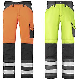 Snickers Hi Vis Trousers. Kneepad Pockets. Class 2. UK SUPPLIER-3333
