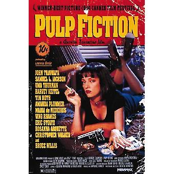 Pulp Fiction Uma Movie Poster Print Poster Poster Print