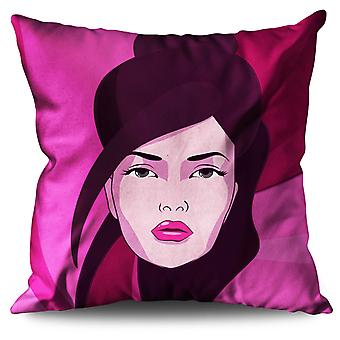 Look Sensual Art Fashion Linen Cushion Look Sensual Art Fashion | Wellcoda