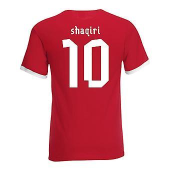 Xherdan Shaqiri Switzerland Ringer Tee (red)