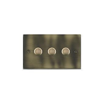 Hamilton Litestat Cheriton Victorian Antique Brass 3g 250W Multi-Way Dim AB
