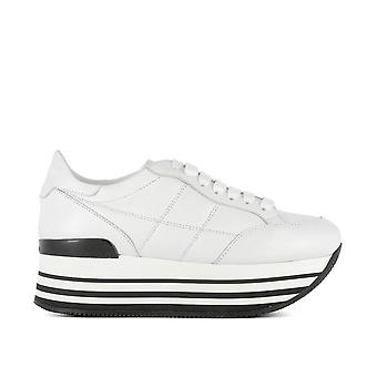 Hogan women's GYW2830J060BTLB001 White leather of sneakers