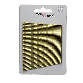 Card of 36 Hair Kirby Grips Bobby Pins 65mm