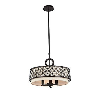 Maytoni Lighting Venera House Collection Pendant, Dark Wenge