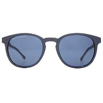 Hugo Boss Essential Keyhole Round Sunglasses In Striped Blue