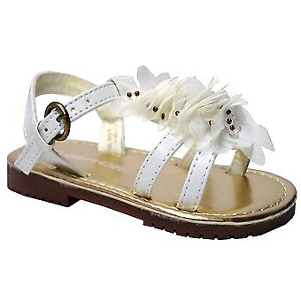 Infant Baby Girls Slingback Floral Stud Trim Ankle Strap Sandals Shoes