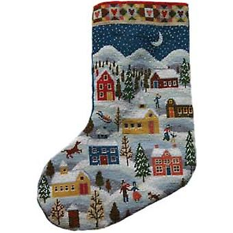 Shaker Stocking Needlepoint Kit
