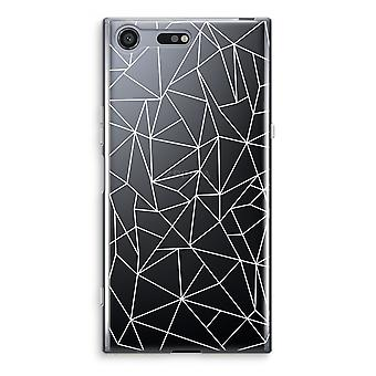 Sony Xperia XZ Premium Transparent Case (Soft) - Geometric lines white