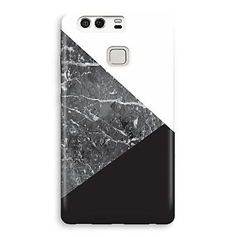 Huawei P9 fuld udskrive sag - marmor kombination