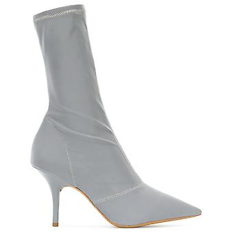 Yeezy women's KW5135024 silver leather ankle boots