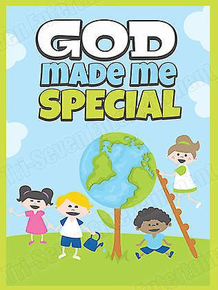 Children's Poster God Made Me Special Series 2 (18x24)