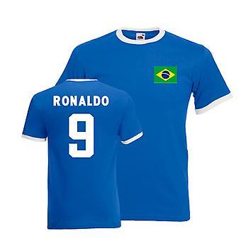Ronaldo Brasilien Ringer Tee (blau)