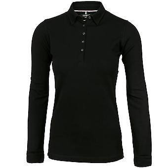 Nimbus Womens/Ladies Carlington Cotton Deluxe Long Sleeve Polo Shirt