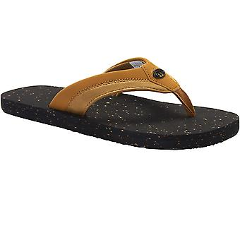 Animal Mens Huxley Soft Webbed PU Nubuck EVA Footbed Flip Flop Sandals