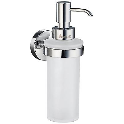 Home Wallmount Holder With Glass Soap Dispenser - Polished Chrome HK369