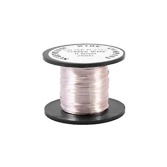 1 x Silver Plated Copper 0.9mm x 5m Round Craft Wire Coil W2090