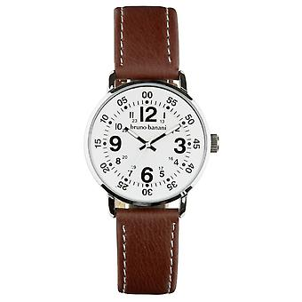 Bruno Banani watch wrist watch of Moros leather analog BR30011