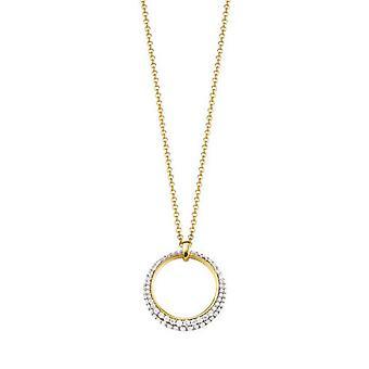 Esprit Collection Damen Kette Collier Silber Gold Delia ELNL92698D420
