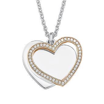 дамы жемчужина s.Oliver цепи ожерелье серебро розовое золото сердца Zikonia 2015093