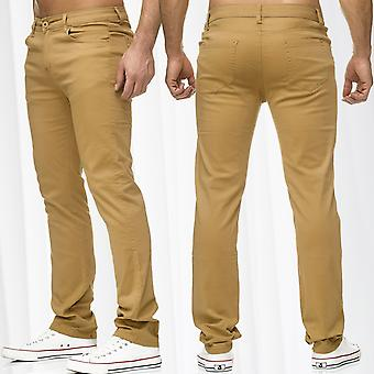 Men's CHINOS Style Long Trousers Straight Leg Regular Fit Blogger Fashion New Summer