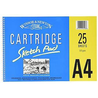 Winsor & Newton Cartridge Sketch Pad 25 Sheets 110gsm A4