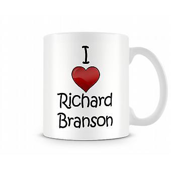 Me encanta la taza impresa de Richard Branson