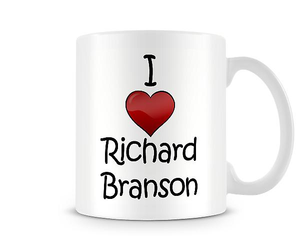 I Love Richard Branson Printed Mug