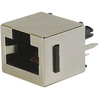 ASSMANN WSW A-20142-LP/FS Top Entry Modular Socket 8 RJ45 Socket, vertical vertical Black