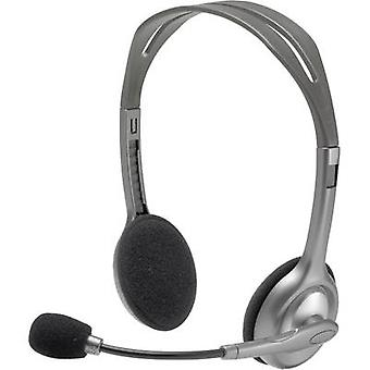 PC headset 3.5 mm jack Corded, Stereo Logitech H110
