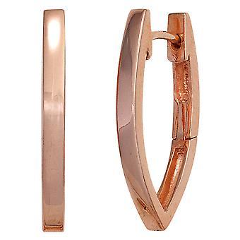 Обруч серьги красное золото покрытием овальный 925 стерлингового серебра овальные серьги серебряный Keywork